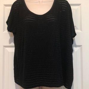 Forever 21 Black Oversized T T-shirt Size M